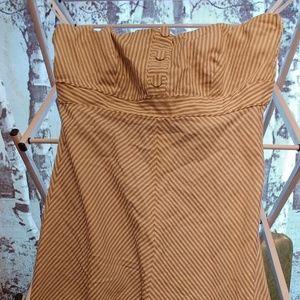 Strapless Striped Gap Linen Dress Spring/Summer